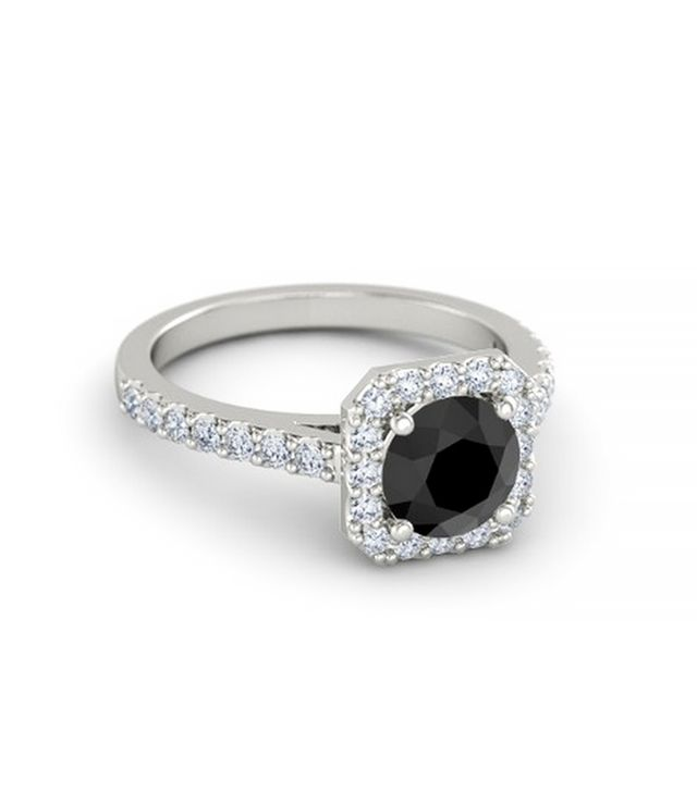 Gemvara Round Black Diamond Ring