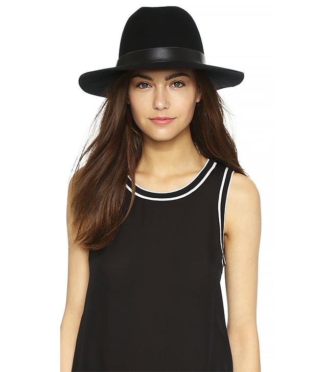 Hat Attack Wool Felt Medium Brim Hat, Black