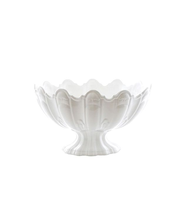 Hudson Grace Large Ceramic Scallop Bowl