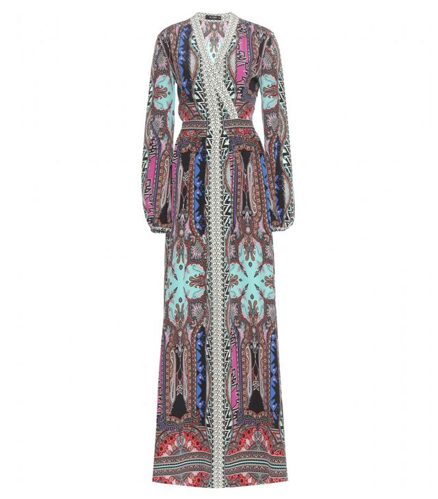 Etro Floor-Length Printed Silk Dress