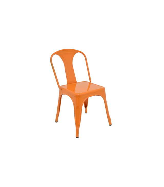 Arm's Length Metal Chair in Orange
