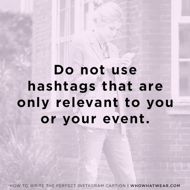 """For all the blushing brides out there, this one's for you: Event-specific hashtags are lame, according to Kwolek. """"When people come up with hashtags for their vacation or their wedding, that..."""