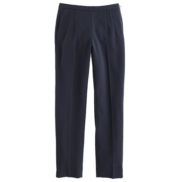 J.Crew Back-Zip Pant in Bonded Crepe