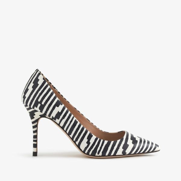 J.Crew Elsie Printed Leather Pumps