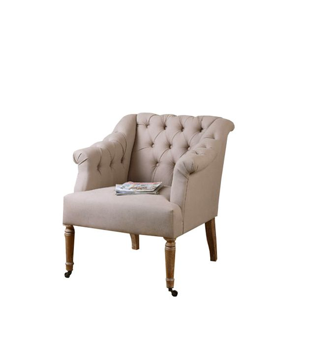 Uttermost Khaldun Tufted Arm Chair