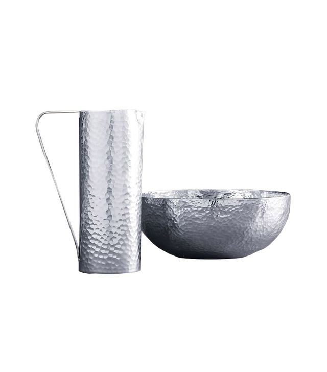 West Elm Hammered Metal Pitcher