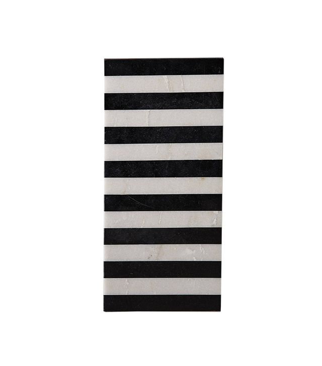 Anthropologie Striped Marble Cheeseboard