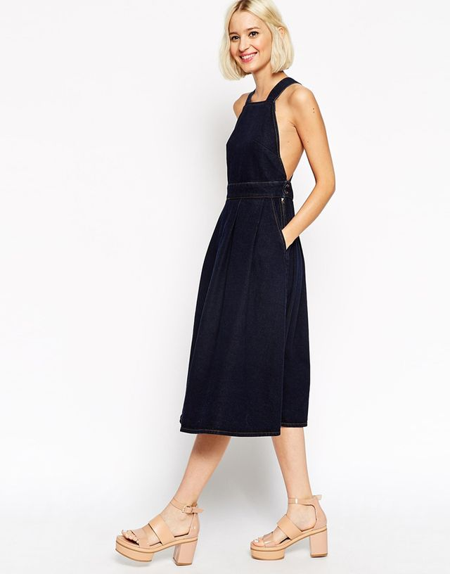 ASOS Cross Back Denim Dress