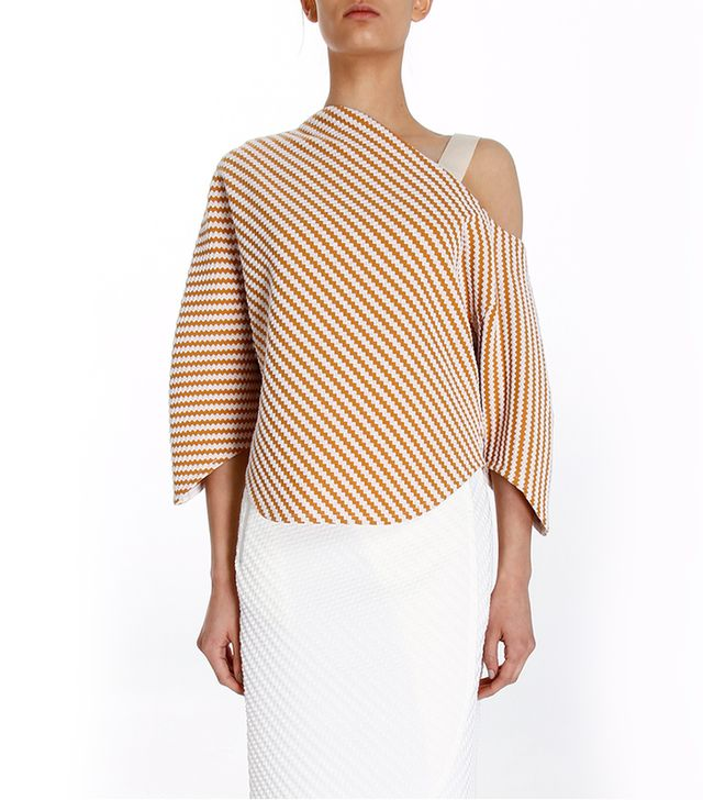 Use Unused Dune Striped One Shoulder Top