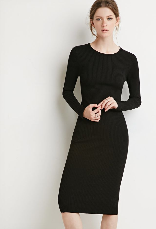 Forever 21 Ribbed Midi Dress