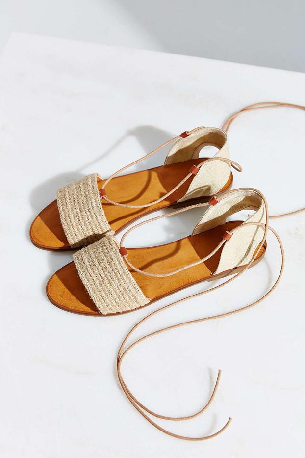 Ecote Lace-Up Slide Sandals