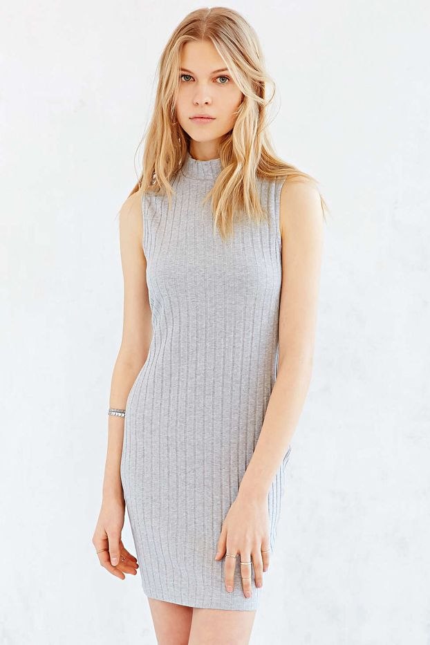 Glamorous Mock-Neck Mini Dress