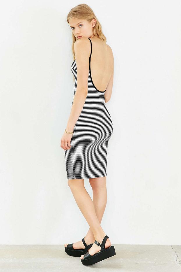 Madison Square Striped Midi Dress