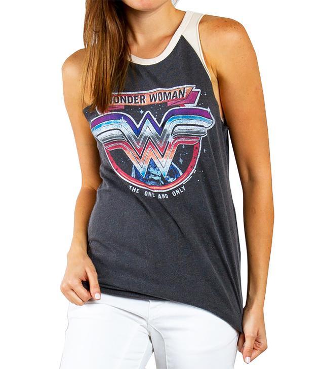 Junk Food Clothing Wonder Woman Raglan Tank