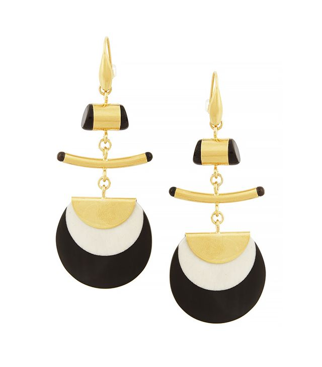 Isabel Marant Gold-Plated Horn and Bone Earrings