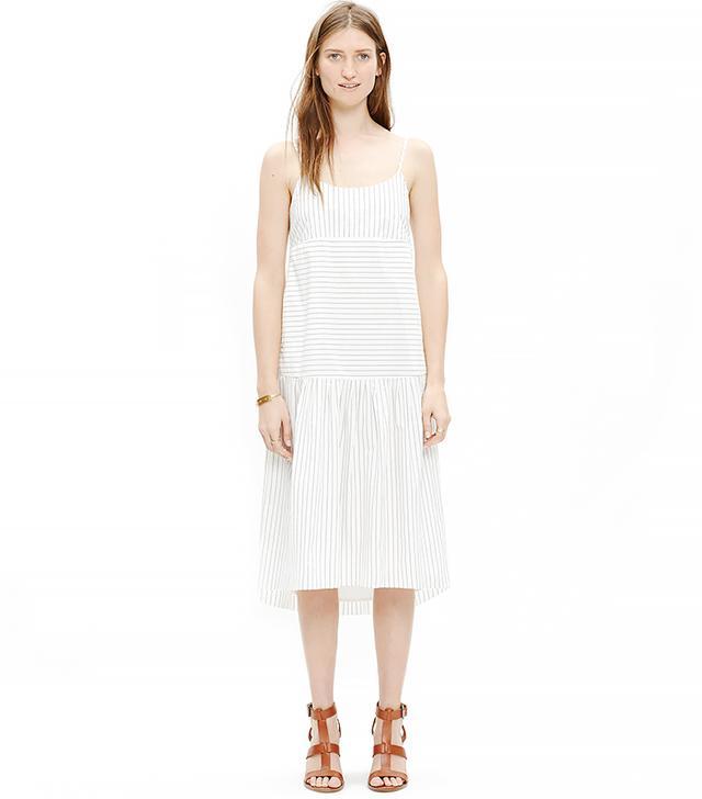 Madewell Striped Drop-Waist Cami Dress