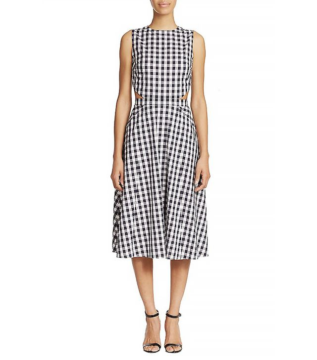 Tanya Taylor New Monica Cutout Gingham Dress