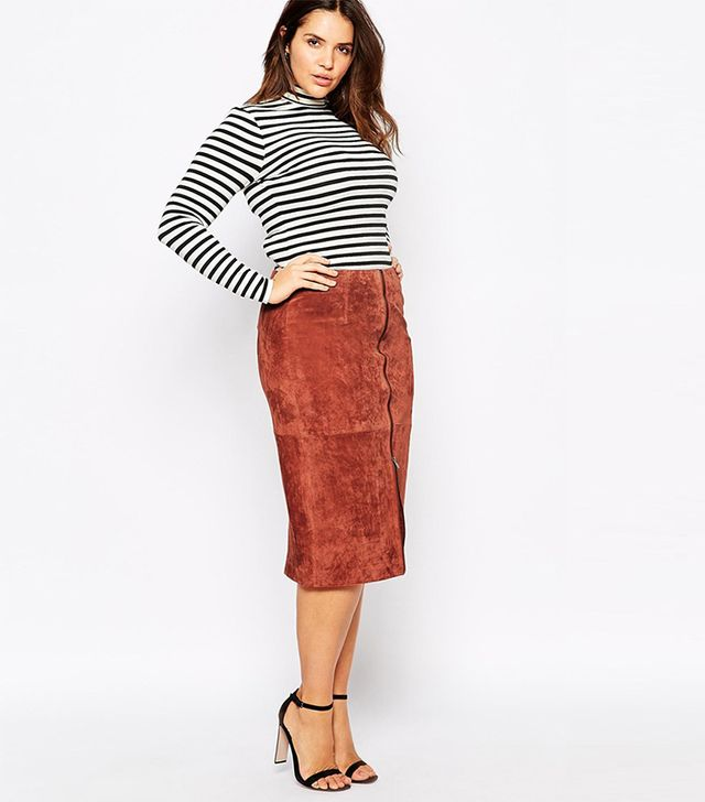 ASOS Suede Pencil Skirt