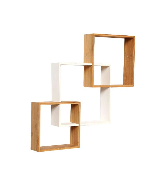 Urban Outfitters Bamboo Step Wall Shelf