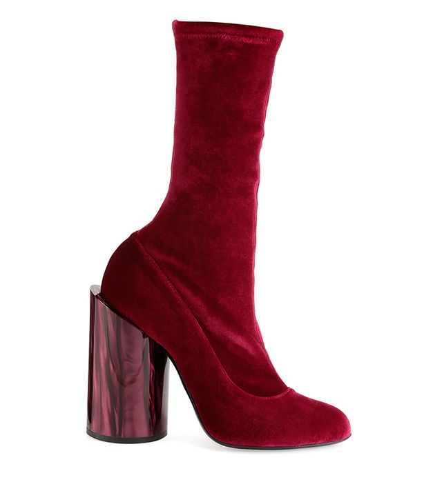 Givenchy Velvet Mother-of-Pearl Show Boot