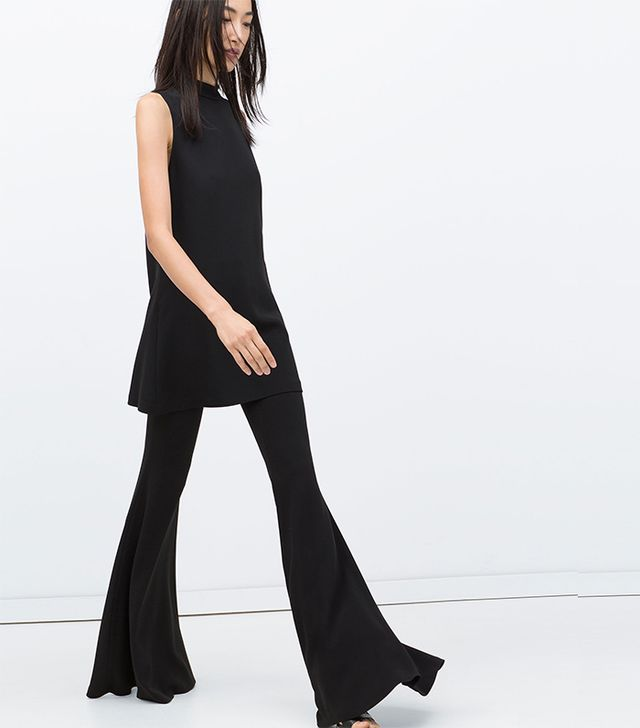 Zara Wide Flared Studio Trousers