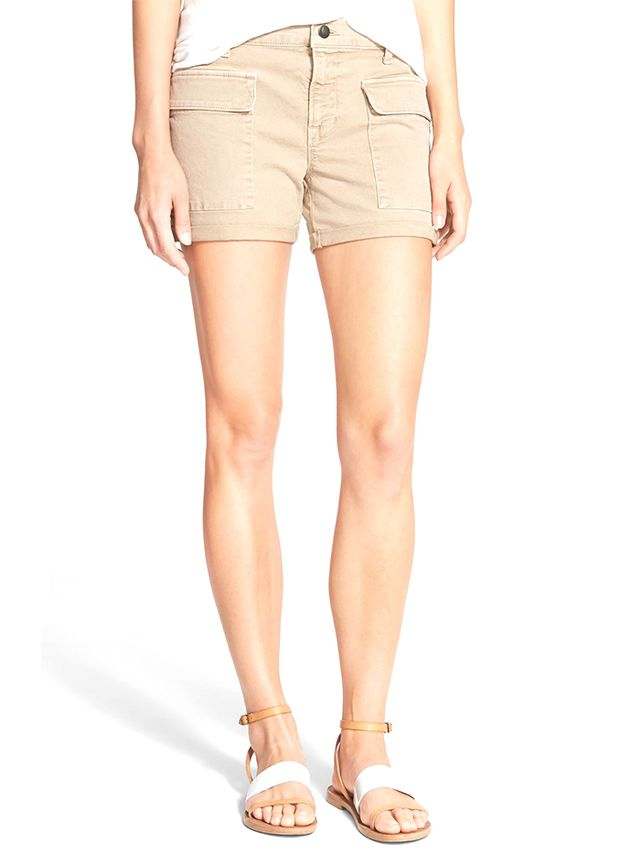 J Brand Kai Mid Rise Utility Shorts