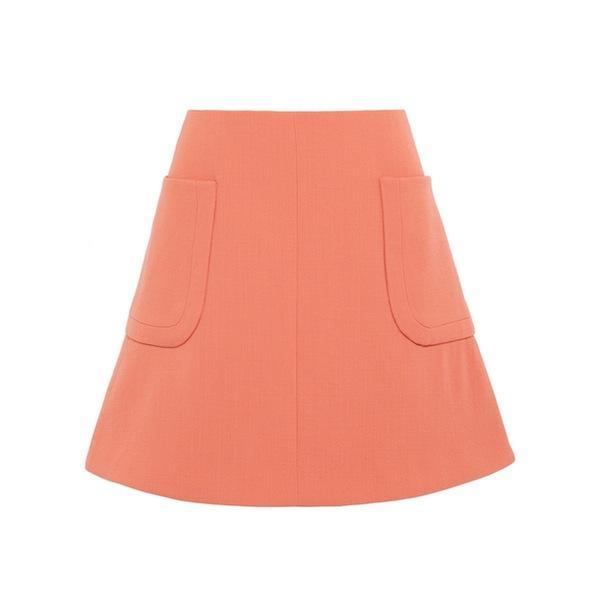 Carven Wool-Crepe Mini Skirt