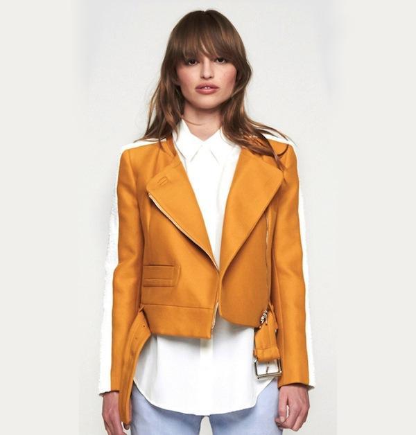 Carven White + Ochre Jacket