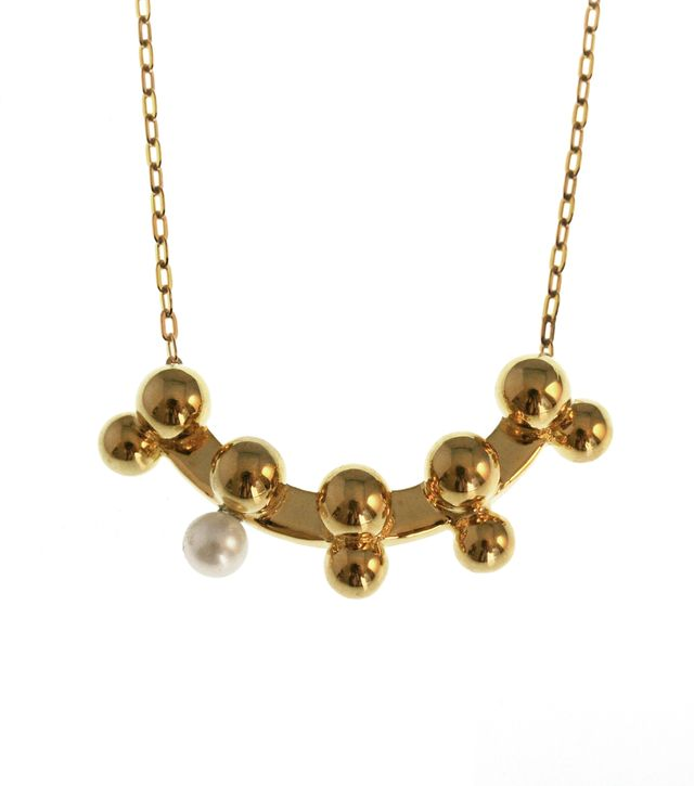 TomTom Gold Modern Sphere Necklace