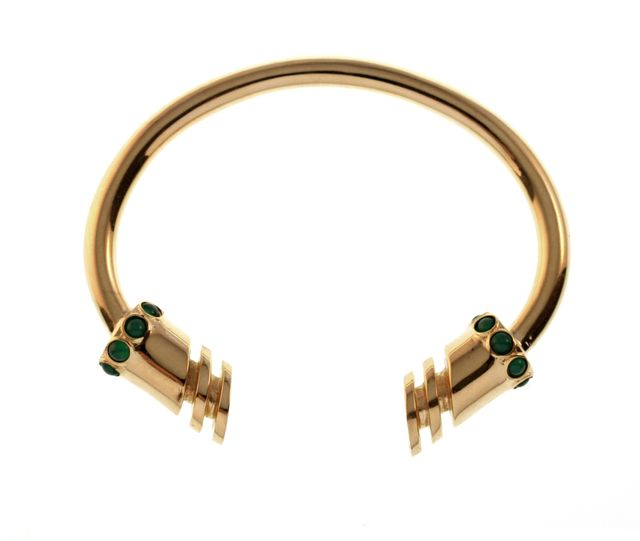 TomTom Gold Niemeyer Cuff with Stones