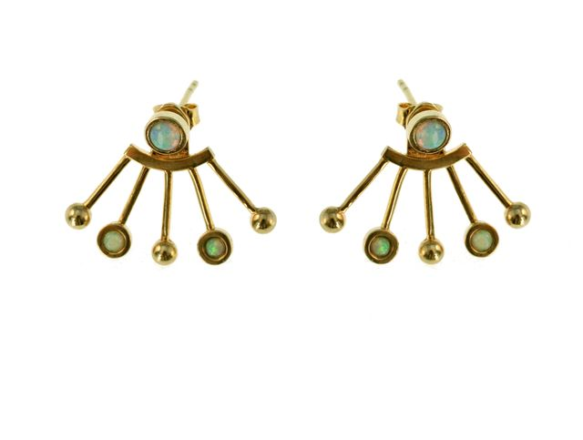 TomTom Gold Opal Orbit Earrings