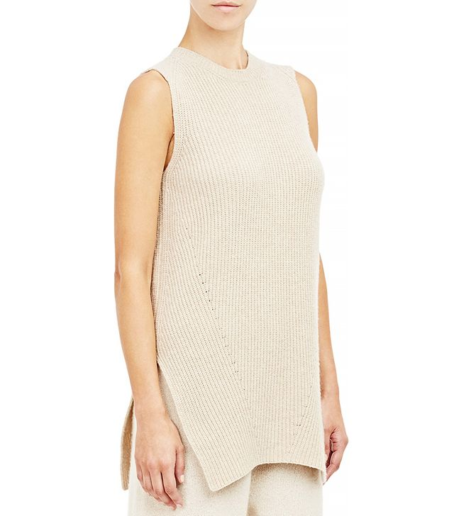 The Row Sleeveless Ribbed Tippi Sweater