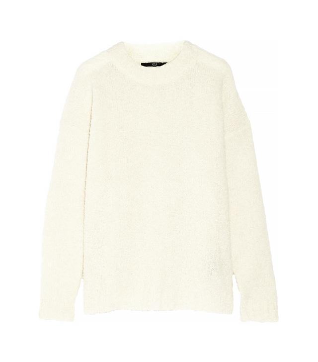 Tibi Oversized Alpaca-Blend Bouclé Sweater