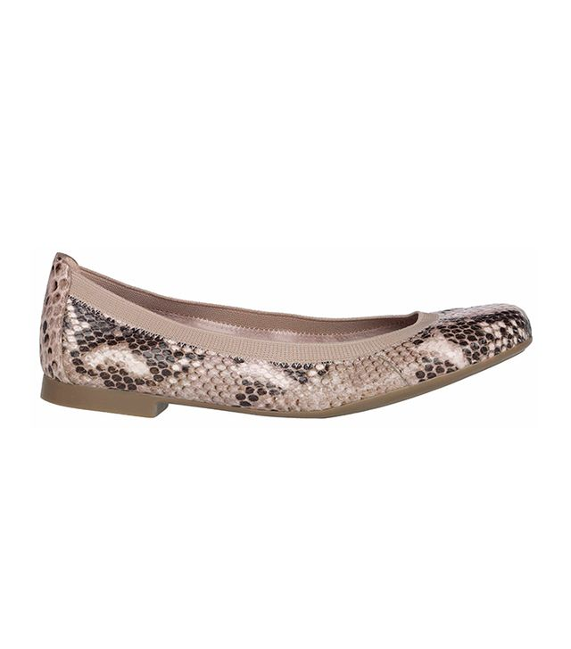 Pretty Ballerinas Shirley Snake Printed Leather Flats