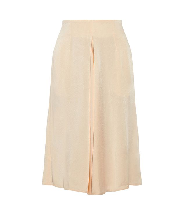 Stella McCartney Kerry Pleated Satin-Cady Skirt
