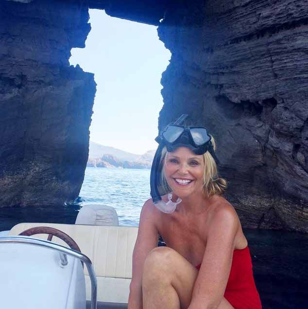 Christie Brinkley on the Amalfi Coast