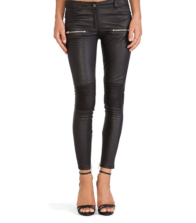 Anine Bing Moto Leather Pant