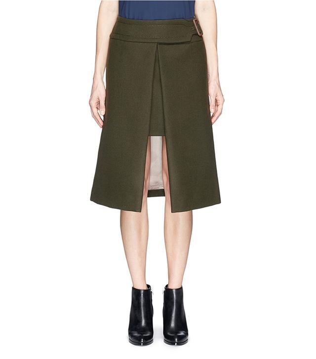 Sacai Luck Wool Felt Wrap Skirt