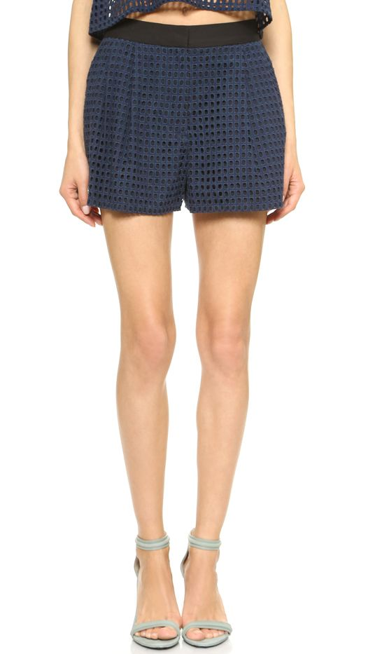 3.1 Phillip Lim Eyelet Shorts