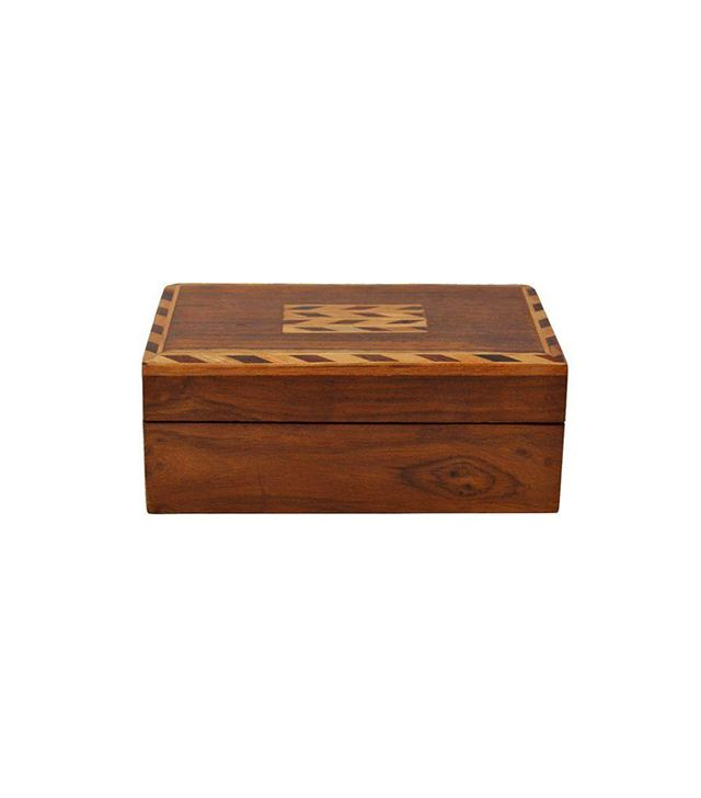 Chairish Vintage Wood Jewelry Box
