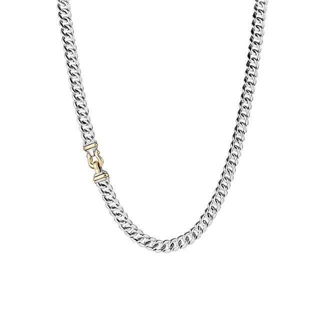 David Yurman Buckle Chain Necklace with Gold