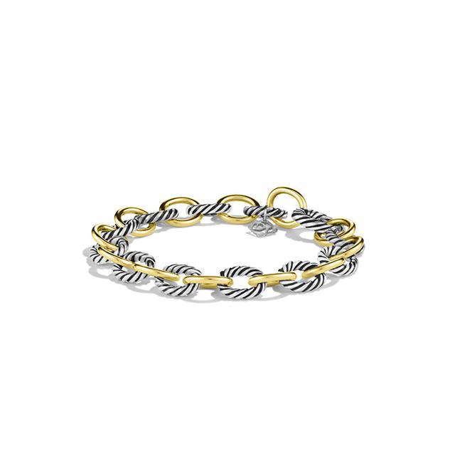 David Yurman Oval Link Bracelet with Gold