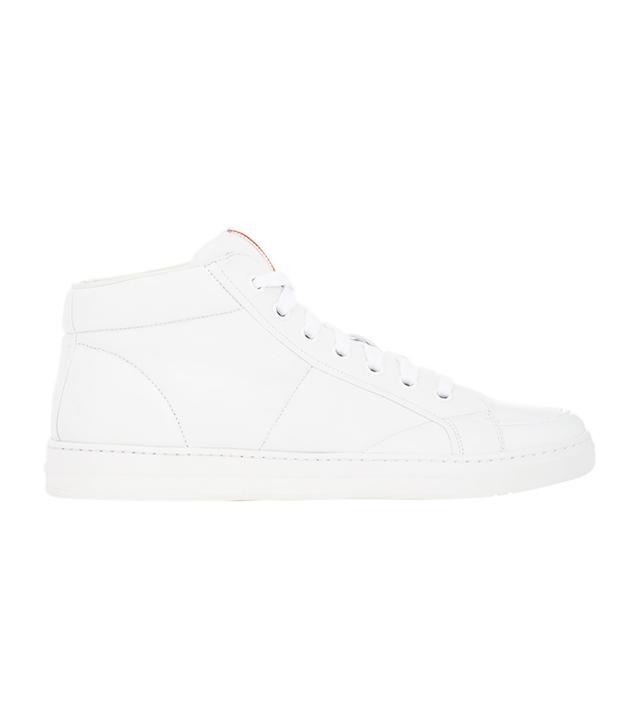 Prada Nappa Leather Mid-Top Sneakers