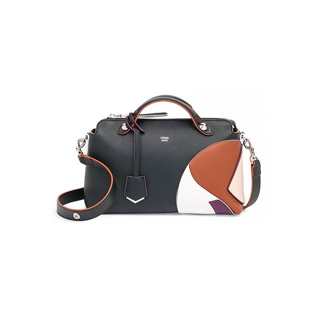 Fendi By the Way Small Multicolor Marquetry Leather Satchel