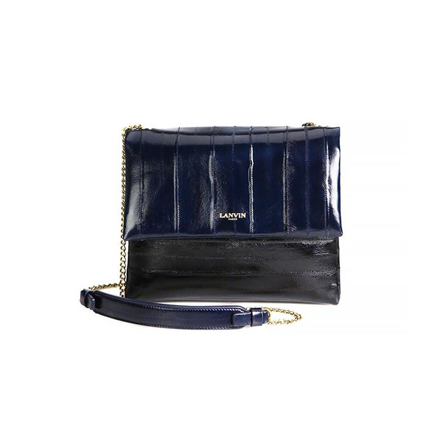 Lanvin Sugar Mini Two-Tone Eel Crossbody Bag
