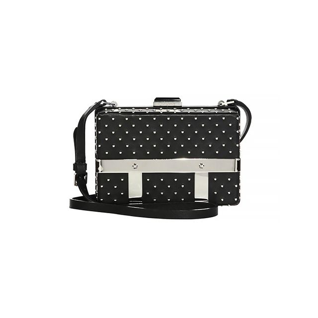 Alexander McQueen Large Studded Leather Caged Bag