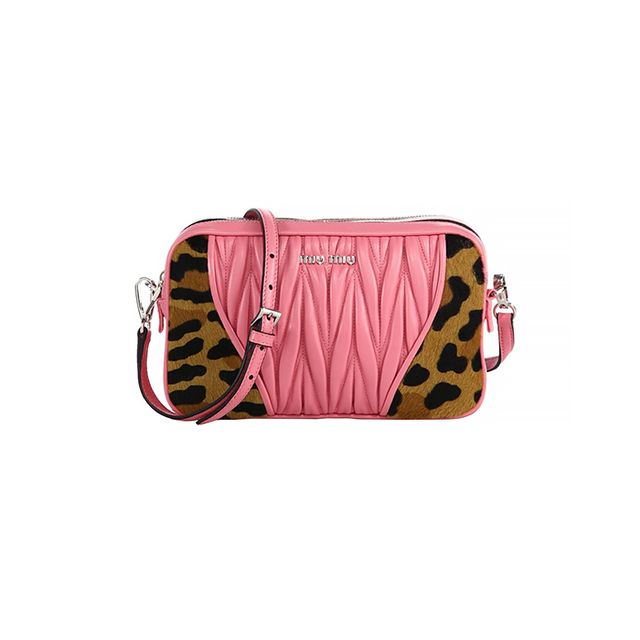 Miu Miu Cavallino Matelasse Leather & Calf Hair Camera Bag