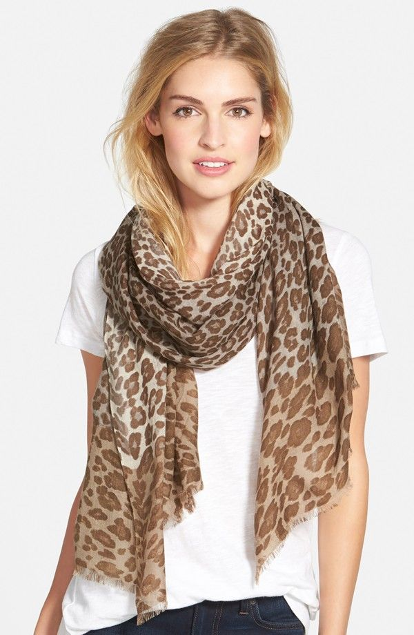 Nordstrom Luxe Animal Challis Scarf