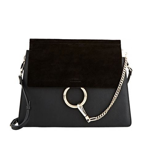 Faye Medium Shoulder Bag, Black