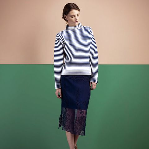 Harling Breton Striped Jumper, Navy/White